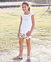 RuffleButts Little Girls Woven Scallop Shorts w//Adjustable Waist