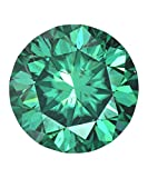 3.86 Ct Loose I1 Clarity Moissanite Fancy Blue Color Round Brilliant Cut