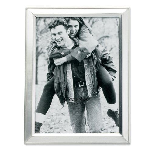 Lawrence Frames Brushed Silver Plated 3 by 5 Metal Picture - Brushed Frame Metal
