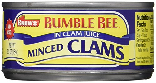 Snow's Bumble Bee Minced Clams in Clam Juice 6.5 oz (Pack of 12) (Best Clam Dip Recipe)