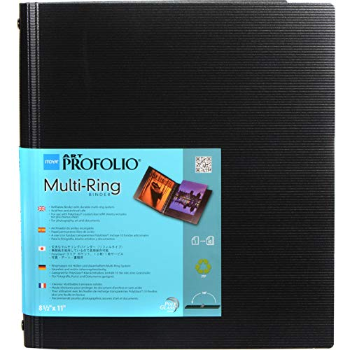 "ITOYA RB-8-11 8.5"" x 11"" Art Profolio Multi Ring Binder, Multicolor"
