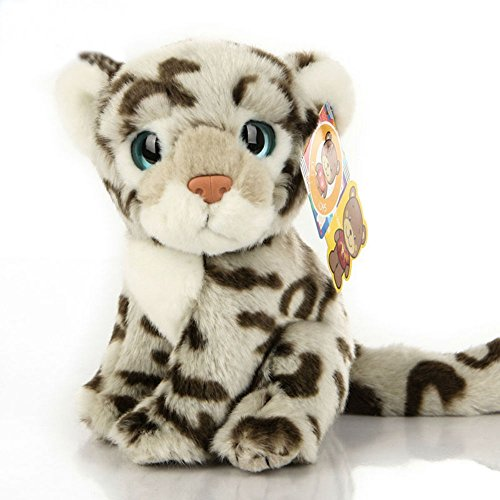 Honey Candy 8-Inch Simulation Snow Leopard Plush Animal Toy Plush Cheetah Stuffed Toys (Snow Leopard)