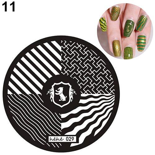 Nail Stamp gLoaSublim,13 Designs Nail Art Pattern Stamp Template Image Stamping Plates DIY Manicure - 11 -