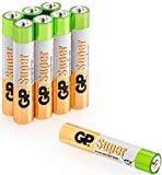 AAAA Batteries – Pack of 8 - Alkaline battery (LR8 / LR61 / MN2500) by GP Batteries – Ideal for Microsoft/Dell Stylus Pen-Luminous dog collars– Wacom Stylus – Torches – Headlights – Toys etc.