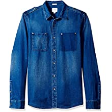 Men's Regular Fit Opulent Blue Denim Shirt