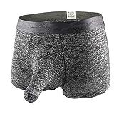 Gocheaper, Men's Soft Underwears Pouch Thongs G String Sexy Briefs Shorts Bikini Boys Pants (L, Black #2)