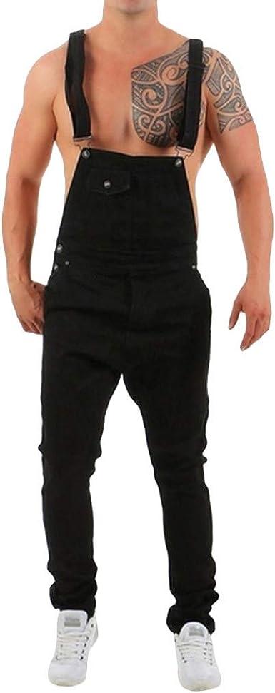BaZhaHei Vaqueros Hombre Rotos Pantalones de Jeans Mezclilla ...