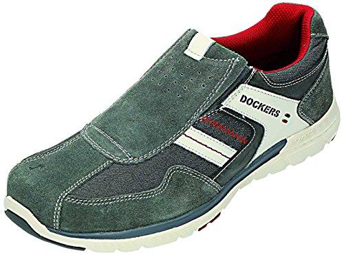 Dockers - Zapatos de cordones para hombre Gris gris Gris - gris
