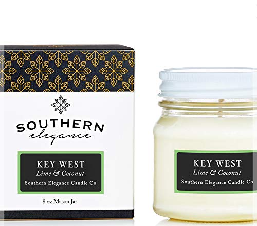 Southern Elegance 100% Soy Wax Candle 8oz (Lime & Coconut)