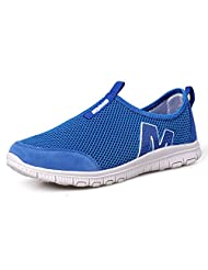 Womens breathable mesh shoes/Light Middle and old aged women leisure shoes/Mother with flat shoes/Old sneakers