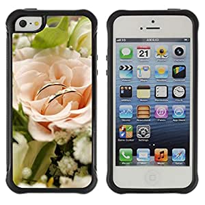 Pulsar Defender Series Tpu silicona Carcasa Funda Case para Apple iPhone 5 / iPhone 5S , Love White Rose
