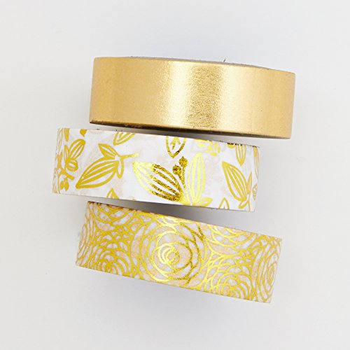 Foil tape set - Bamboo leaf - value pack - DIY - packaging - decorative tape - Love My (Bamboo Dowels)
