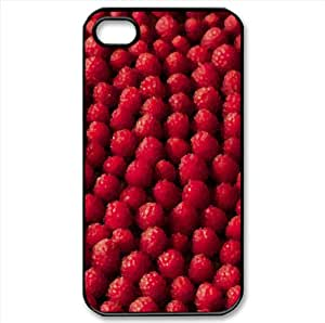 Raspberries, Bokeh Watercolor style Cover iPhone 4 and 4S Case