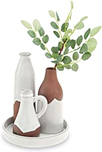 Mud Pie Exposed Terracotta Vase Tray