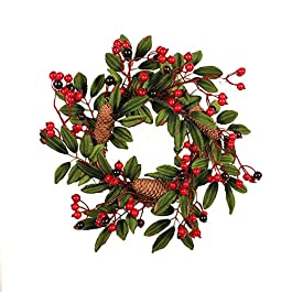 XuBa Christmas Decoration Home Ornament Pine Cone Wreath