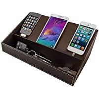 Multi-Device Charging Station Desktop Valet Organizer for...