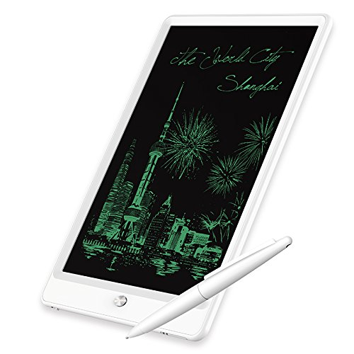 Graphic Lcd - LCD Graphic Writing Tablet,10 inch Durable Electronic Writing Board,Digital eWriter Doodle Drawing Pad, office Handwriting Whiteboard, Portable Handwriting Notepad for Kids and Adults (white)