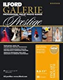 ILFORD 2002402 GALERIE Prestige Fine Art Smooth - 8.5 x 11 Inches, 25 Sheets (200gsm)
