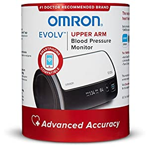 Omron Evolv Bluetooth Wireless Upper Arm Blood Pressure Monitor- Compatible with Alexa