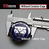 Hanway Set Of 4 58mm Blue Cap Alloy JAGUAR Wheel Center Caps JAGUAR Emblem Badge For XJ XJR XJ6 XF X S TYPE Wheel Center Covers