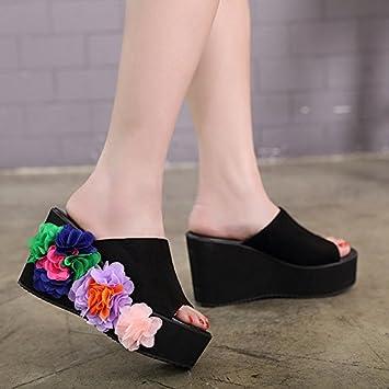 KPHY-pumps sandalen blumen coole schuhe mit dicken hintern high heels pumps sandaletten fersen