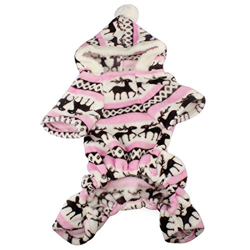 Duseedik Pet Hoodie Coat, Fashion Pet Dog Warm Clothes Fleece Puppy Jumpsuit Doggy Apparel ()