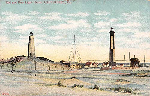 (Cape Henry Virginia Old and New Lighthouse Scenic View Vintage Postcard JC932226 )