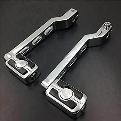 HTTMT Chrome Groove Cut Heel Toe Shift Lever For Harley 1986-later FL Softail