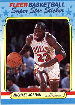 Amazoncom 1988 Fleer Basketball Sticker Basketball Card