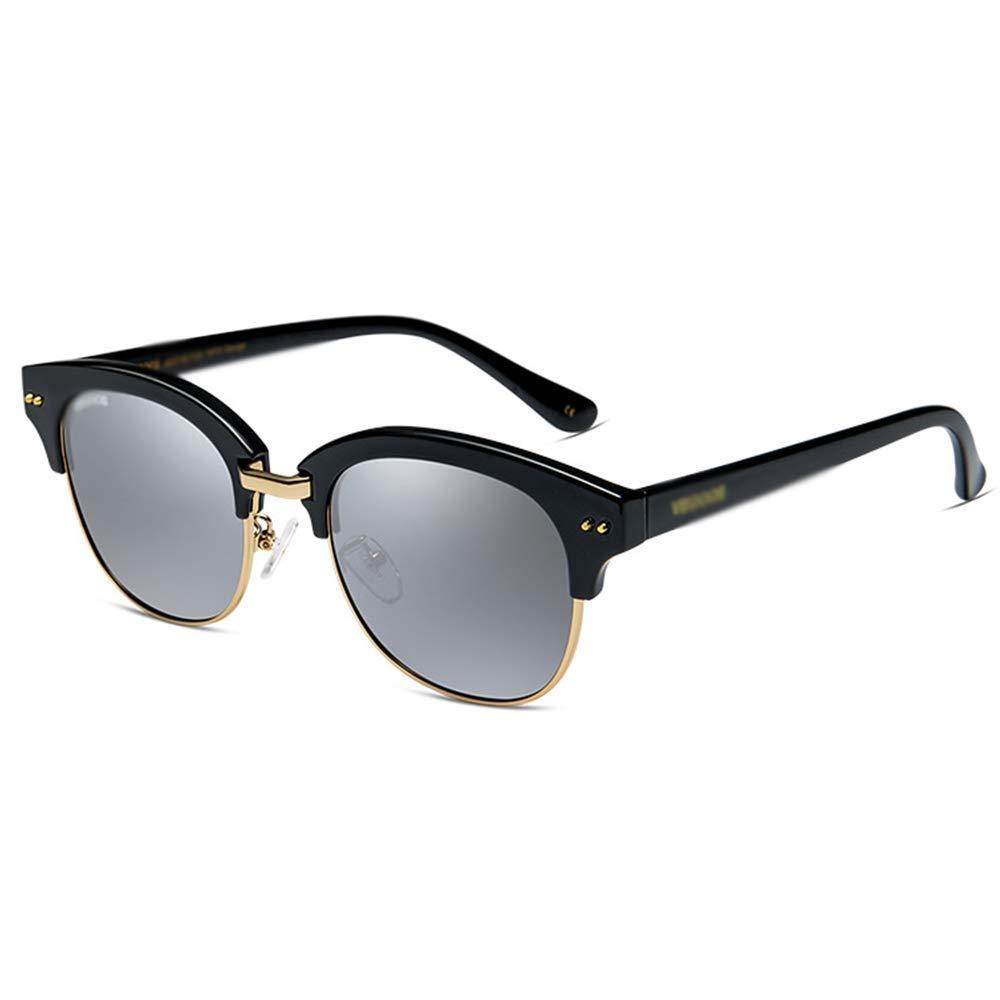 【即納&大特価】 XINGZHE サングラス - 偏光、UV耐性、ハーフフレーム、トレンディなパーソナリティ、ショッピングストリートシューティングを運転する女性 : frame、アウトドアアクティビティ サングラス、4色から選ぶことができます サングラス (色 : Black frame mercury) B07QZWW6MQ Black frame mercury, igarden:4e4290e8 --- garagegrands.com