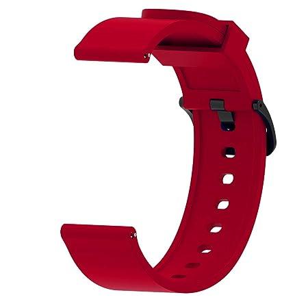 DNelo 20 / 22mm Silicona Pulseras de Reloj Repuesto para Galaxy Reloj Huawei GT Samsung S3 Activo Gear Correas de Reloj Bandas - 22mm Púrpura
