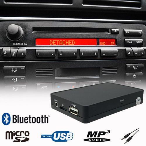 Bluetooth Handsfree A2DP USB SD AUX Music Player CD Changer Adapter Interface Car Kit for BMW E36 E38 E39 E46 Z3 Business CD/Cassette Radio