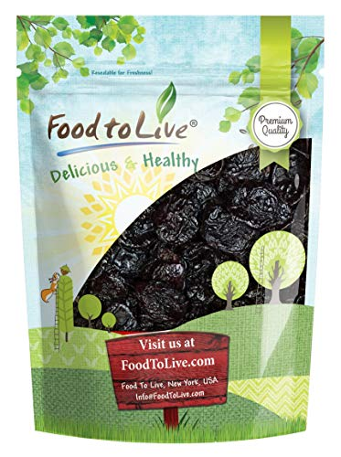 (Pitted Prunes, 2 Pounds - Whole Dried Plums, Unsulfured, Unsweetened, Non-Infused, Non-Oil Added, Non-Irradiated, Vegan, Raw, Bulk)