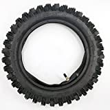 80/100-12 3.00-12 12'' Inch Rear Knobby Tire + Inner Tube for CRF 70 PW 80 KLX 110 SSR 110TR 125CC PIT PRO Dirt Bike