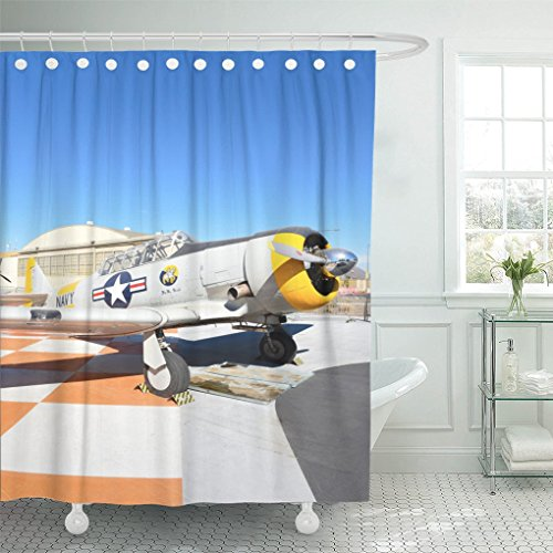 AA0AA Shower Curtains Orange Irvine Ca January 31 2018 SNJ 5 Texan WWII Era Plane on Display at The Great Park in California Shower Curtain 72 x 78 Inches Shower (Irvine Park Accessories)