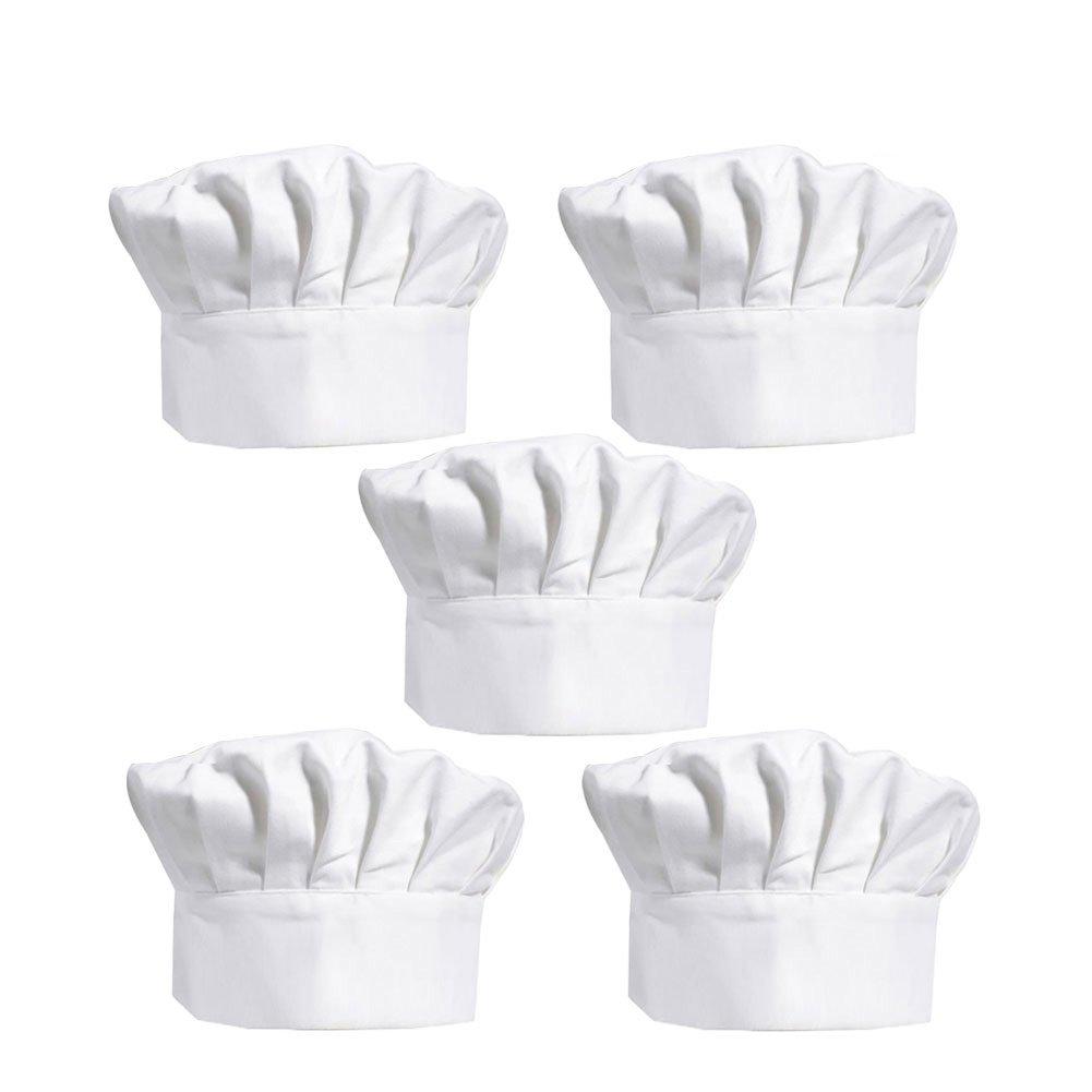 Cappello Cuoco, Yuccer Cappello Chef per Adulti Regolabile di Cotone Chef Hat , Bianco