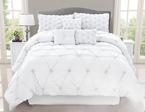 Safdie & Co. Collection Chateau 7 Piece Comforter Set, Full/Queen ()