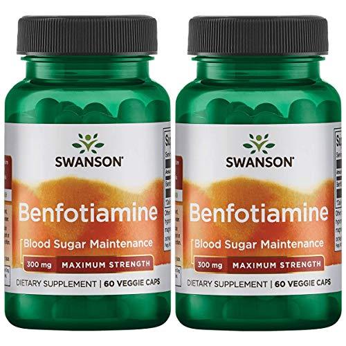 Swanson Benfotiamine – Maximum Strength 300 mg 60 Veg Caps 2 Pack
