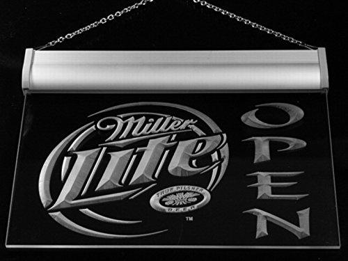 Miller Lite Beer OPEN Bar LED Neon Light Sign Man Cave 029-B
