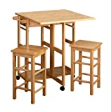 Drop Leaf Table Winsome Wood Table Drop Leaf Square Stool, Natural