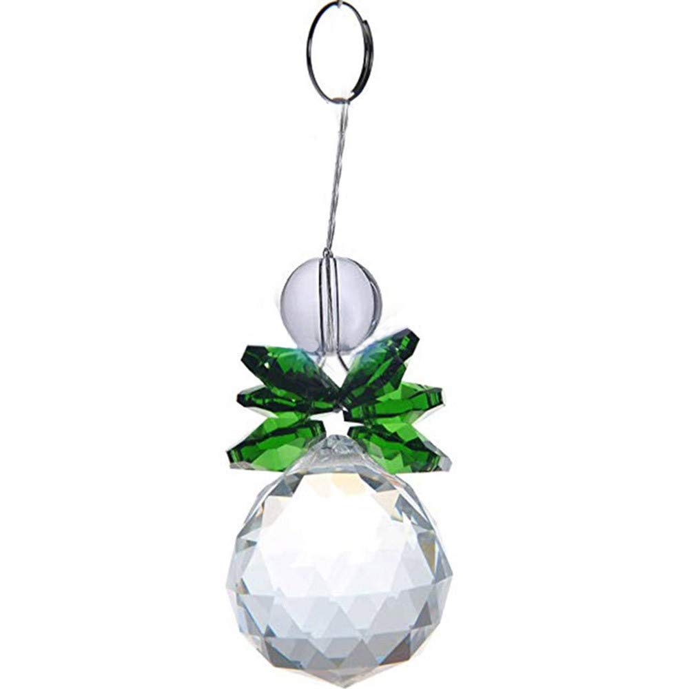 Christmas Tree Decorations Clearance,Jchen(TM) Merry Christmas Suncatcher 30mm Crystal Ball Window Hanging Decoration Ornament (Green)