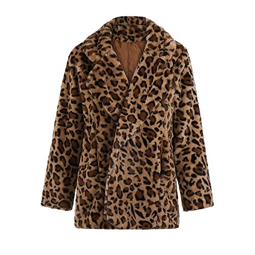 Clearance !GREFER Women Warm Winter Cardigan Sweatshirt Ladies Leopard Print Pullover Jumper Coat