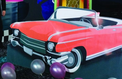 50's Drive in Convertible Standee Party Prop