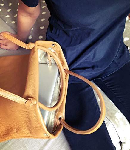 Gris Iob En Unité Naturel Shopper Bag Fabriqué Chic Tote Élégant À Italie Main dernière Cuir Products Sac axrwTaqf4