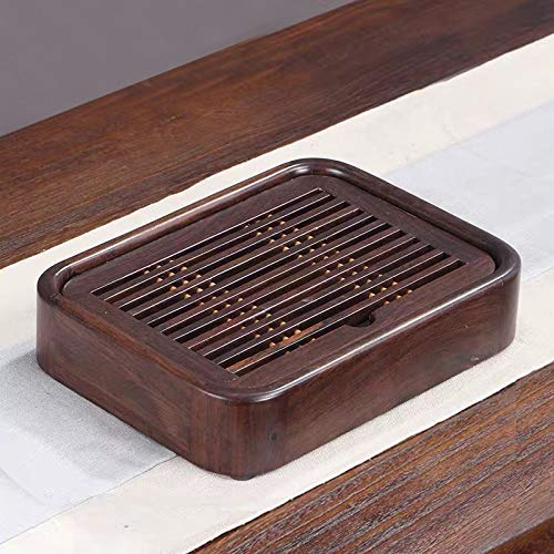 Household Ebony Water Storage Tea Tray Kung Fu Teaware, Size: 26 x 19 x 5cm for home by TTDY