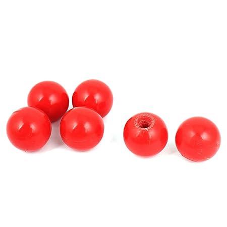 5pcs Red M6 Threaded Round Plastic Ball Knob Ball Handle Machine Tools