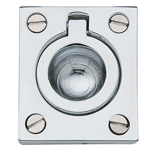Baldwin Estate 0392.260 Solid Flush Ring Pull in Polished Chrome, 1.25