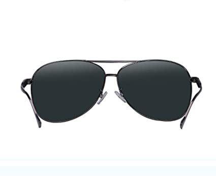 38c491da12 Glasses Outdoor spectacles Men s sunglasses polarized sunglasses yurt tide  big fat face face frame eye sunglasses car (Color   Dark Green Gun Box  Sheet)  ...