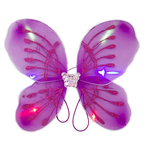 blinkee Light Up Fuchsia Fairy Butterfly Wings LED Halloween Costume for Trick or Treating and Night Time Safely ... ()