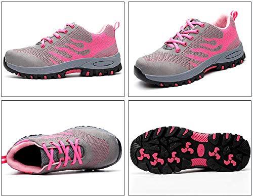 S3 Seguridad Zapatillas tone de Entrenador Unisex de Acero Unisex Zapatos de Hombre Deportivos Rosa01 ranspirables Antideslizante Trabajo Ali con Ligeras Senderismo Comodas Puntera de Zapatillas Mujer wXTZdPq